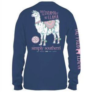 Simply Southern Tops - Simply Southern Long Sleeve Shirt Drama Llama